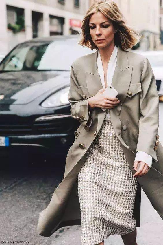 风衣+裙子,时髦又有女人味! 19