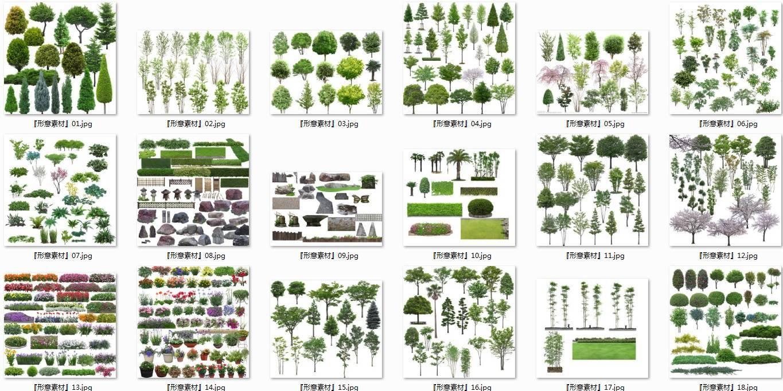 植物素材psd 一共5个分卷,压缩后共8gb,非常清晰好用!
