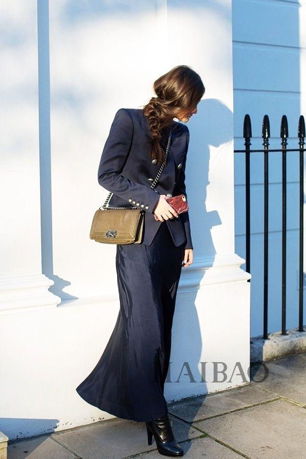 秋季要穿长裙+短靴,又仙又帅好看到犯规! 18