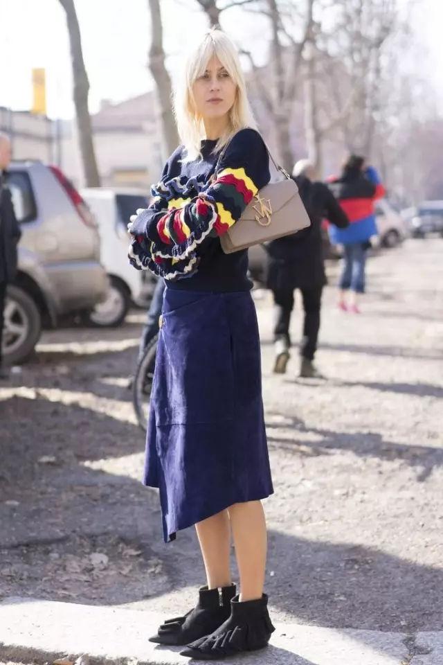 裙子+平底鞋,刘雯教你穿出超模范儿! 16