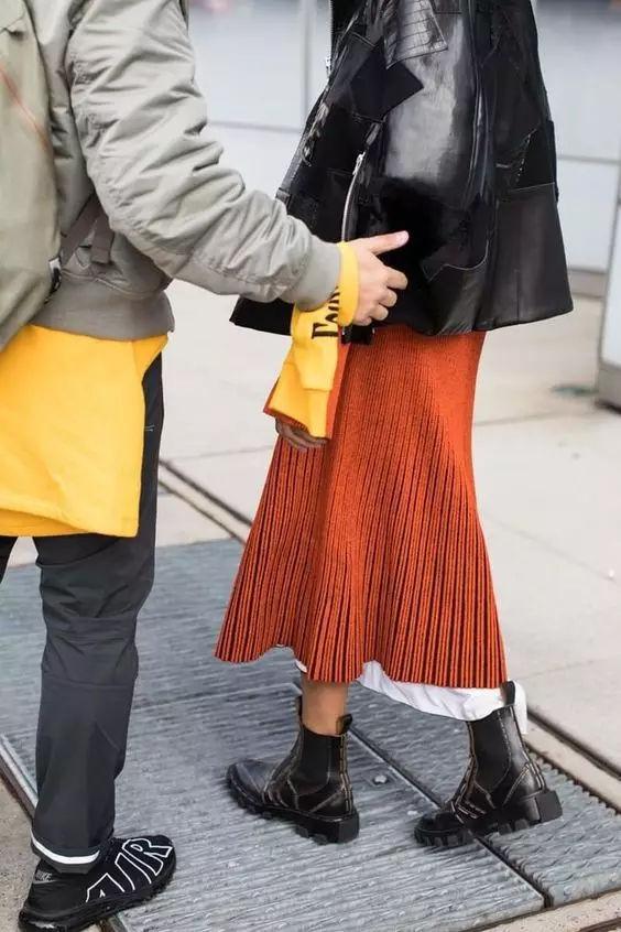 裙子+平底鞋,刘雯教你穿出超模范儿! 14