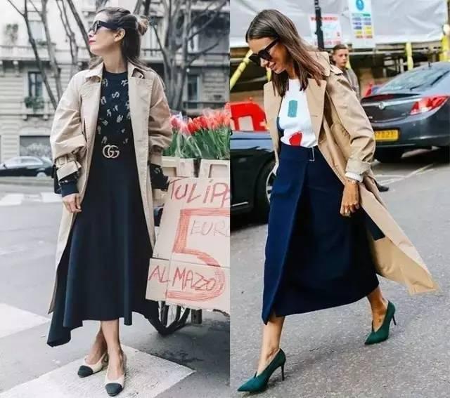 风衣+裙子,时髦又有女人味! 15