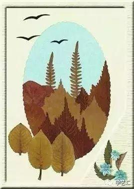 创意无限的树叶拼贴画!和宝贝玩转这个秋天