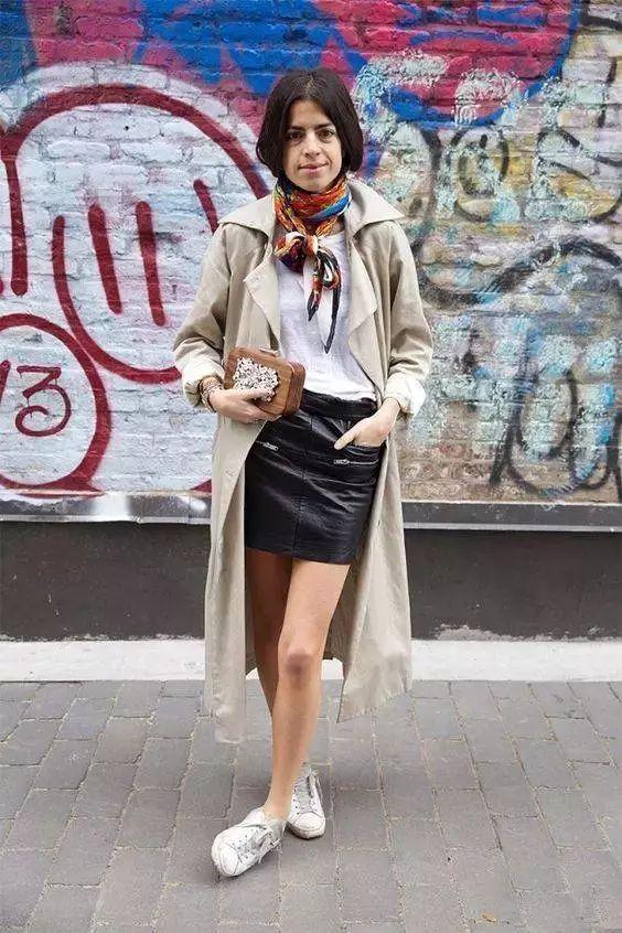 风衣+裙子,时髦又有女人味! 12