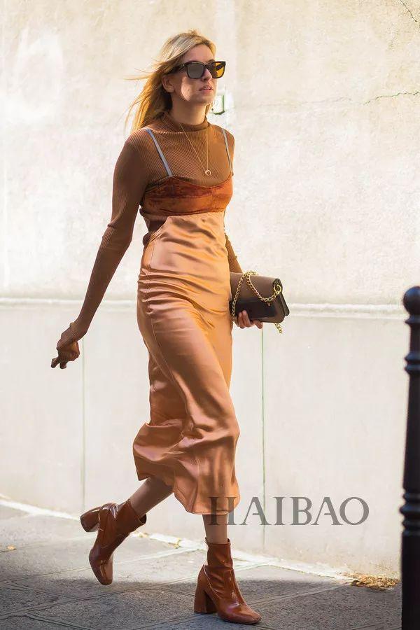 秋季要穿长裙+短靴,又仙又帅好看到犯规! 21