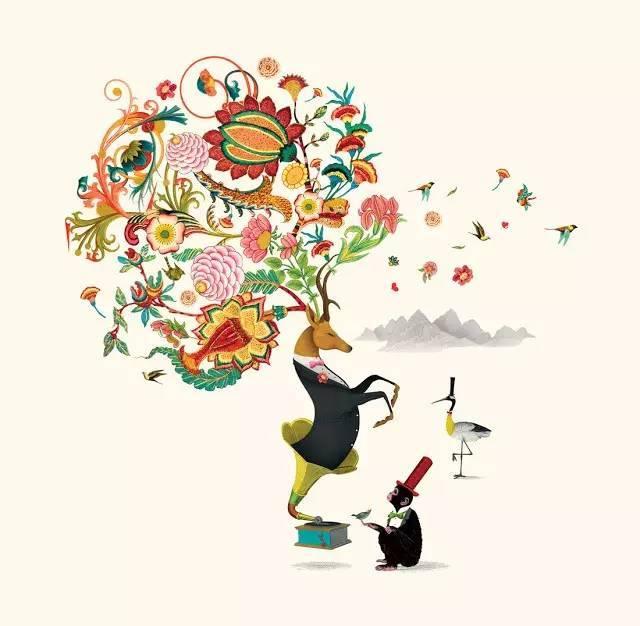 英国美食手绘插画