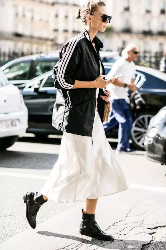 裙子+平底鞋,刘雯教你穿出超模范儿!