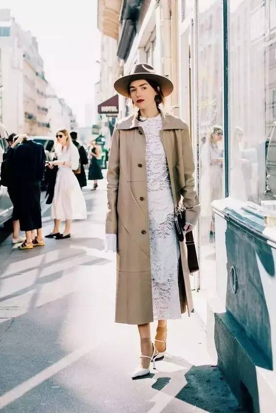 风衣+裙子,时髦又有女人味! 28