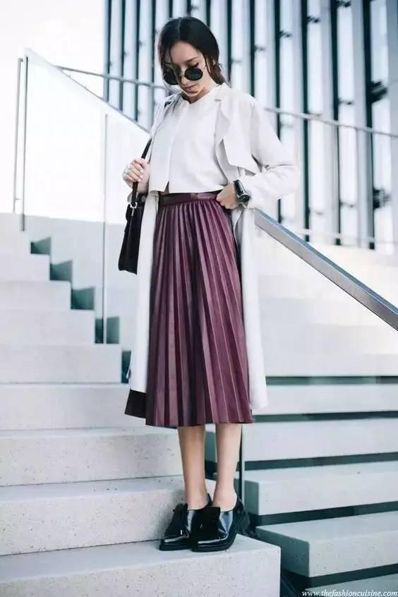 风衣+裙子,时髦又有女人味! 20