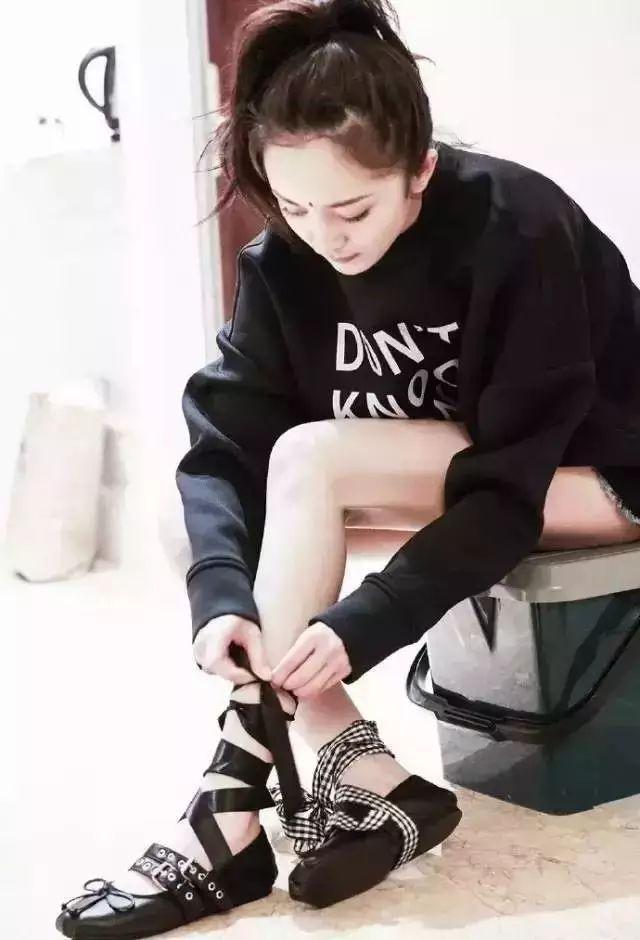 杨幂娜扎抢着穿的这双鞋,显高又显瘦,四季都能穿! 14