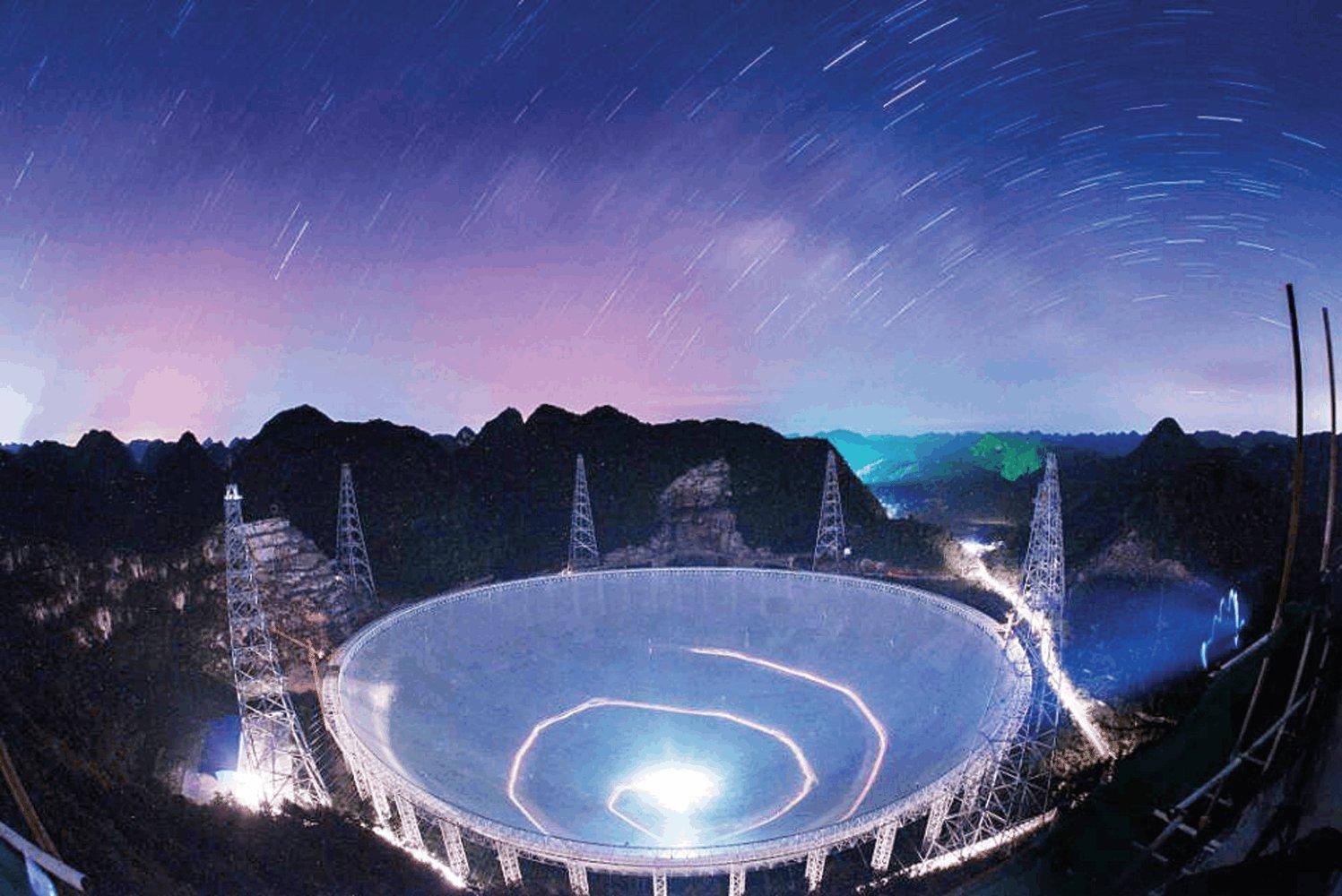 """科技 正文  25日,""""中国天眼""""——世界上口径最大的单天线射电望远镜一"""