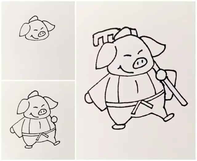 【手绘简笔画教程】唐僧师徒简笔画