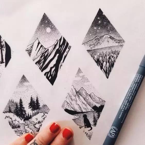 手绘针管笔是有多简单,看完我已经学会!