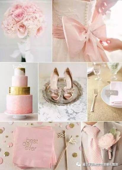 90后小清新婚礼的七种婚礼配色方案 7