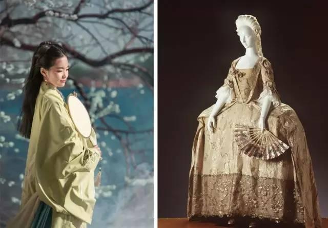 中国服饰 vs 欧洲服饰,太美了!图片