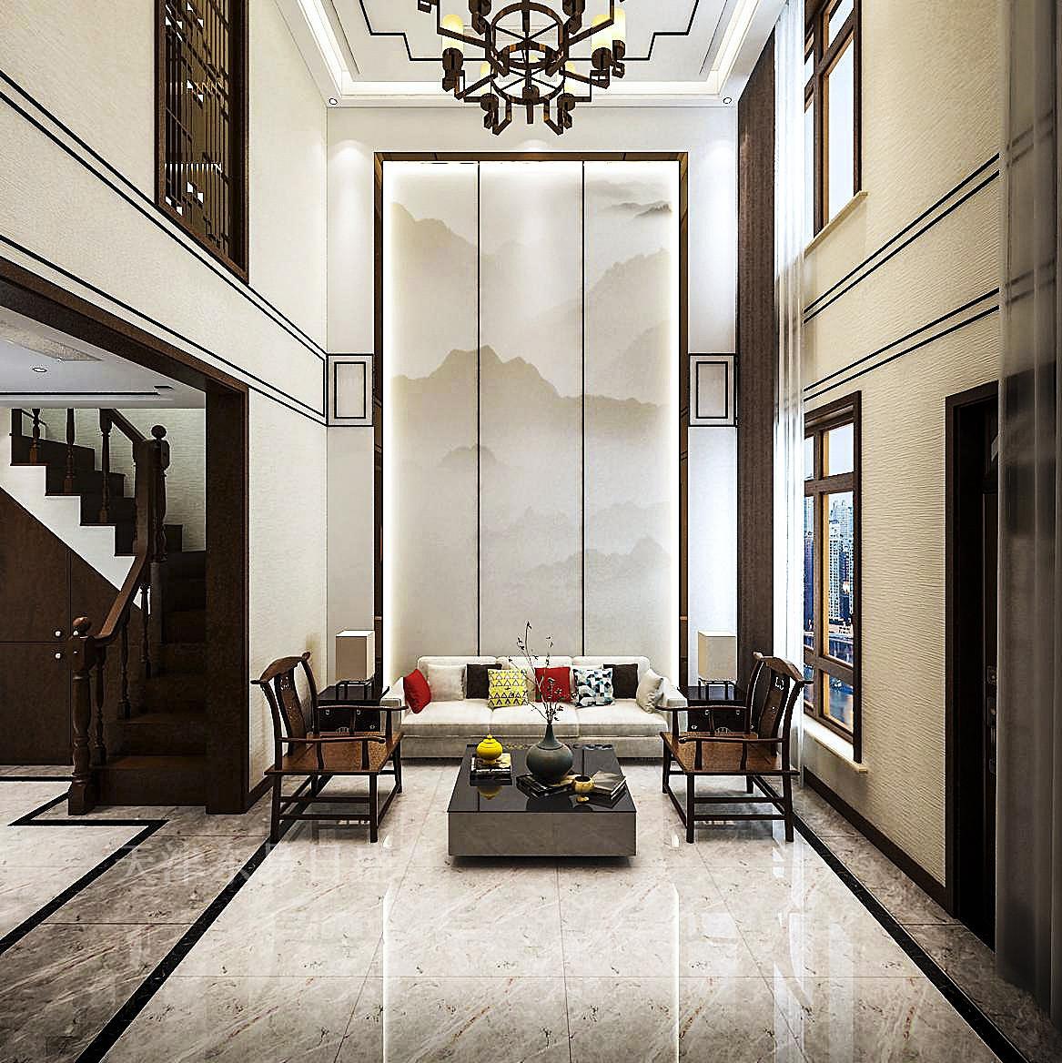 200平新中式大气别墅装修,温馨柔和,雅致风格!科雷阿尔别墅图片