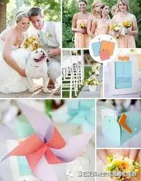 90后小清新婚礼的七种婚礼配色方案 3