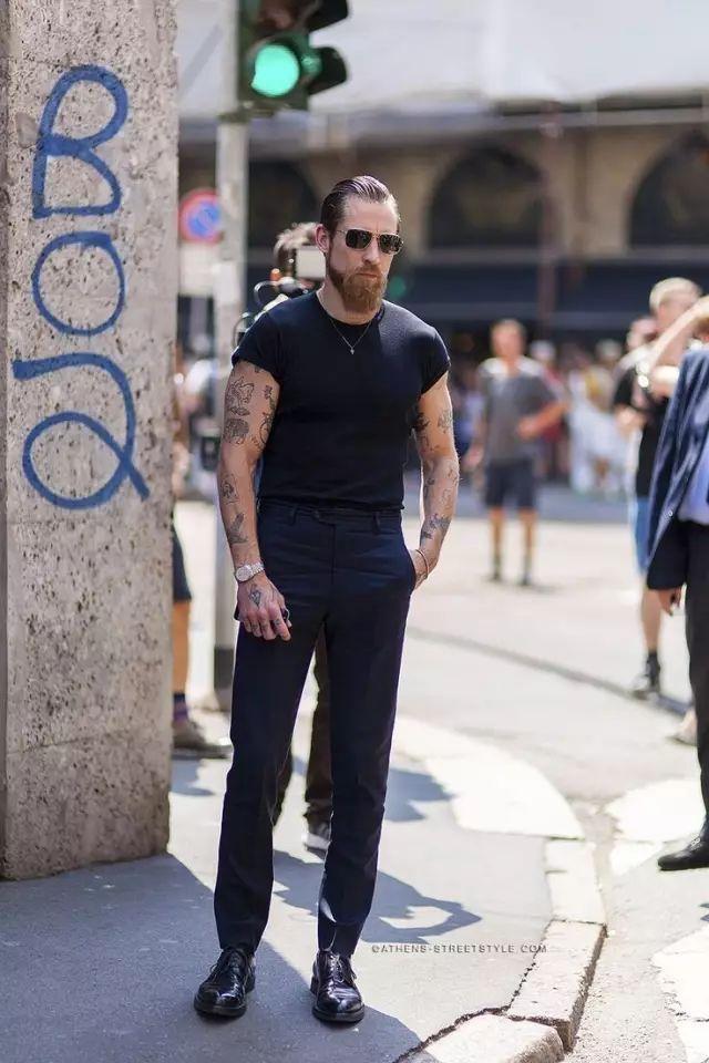 黑色自带的冷酷帅气,给我三天三夜都说不完