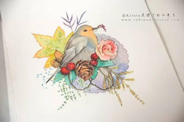 【手绘艺术】水彩,秋日复古森系插画,附详细教程