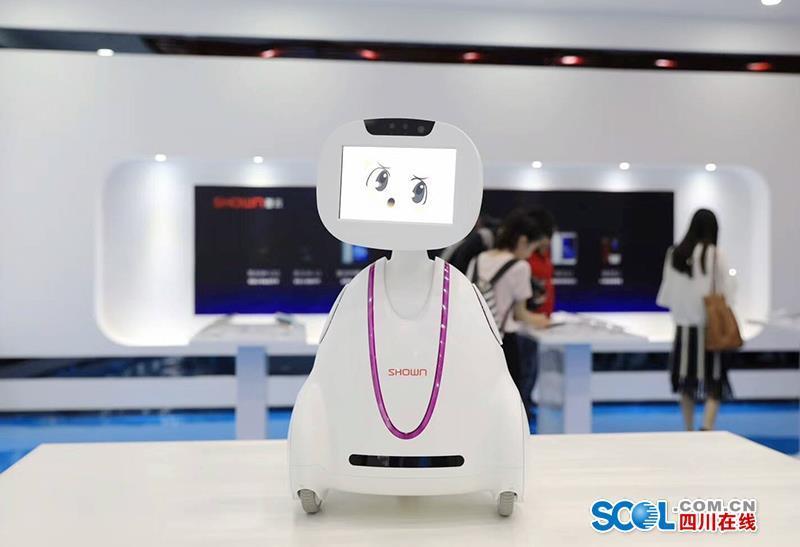 """""""咱們這款智能機器人摸一下它的頭就能實現智能對話,智能控制……""""圖片"""
