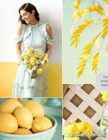 90后小清新婚礼的七种婚礼配色方案 5