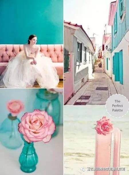 90后小清新婚礼的七种婚礼配色方案 1