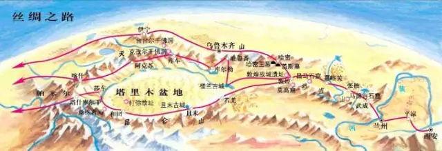 """由中国,哈萨克斯坦,吉尔吉斯斯坦三国联合申报的""""丝绸之路:长安——图片"""