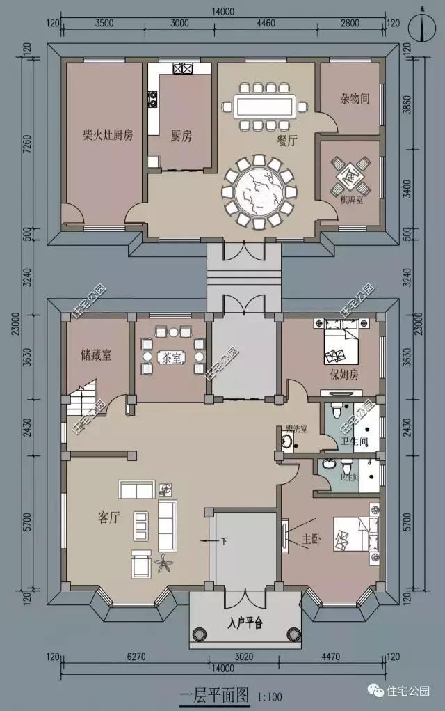 14x12米农村3层别墅,阳台露台,独立厨房柴火房!