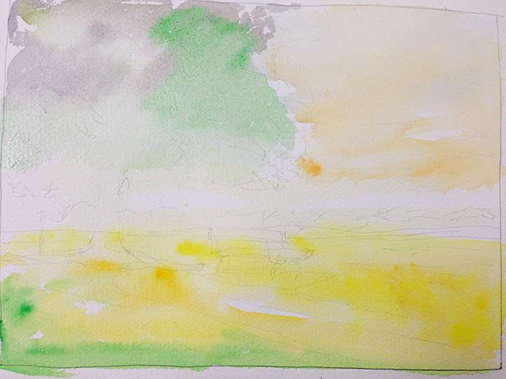 简单风景水彩画步骤