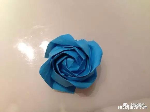 折纸芙荃玫瑰图解 芙荃玫瑰的折法步骤