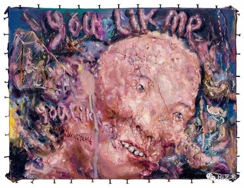 亚州爱性_系列第三十号》——艺术家绘画本体语言最成熟的代表性作品