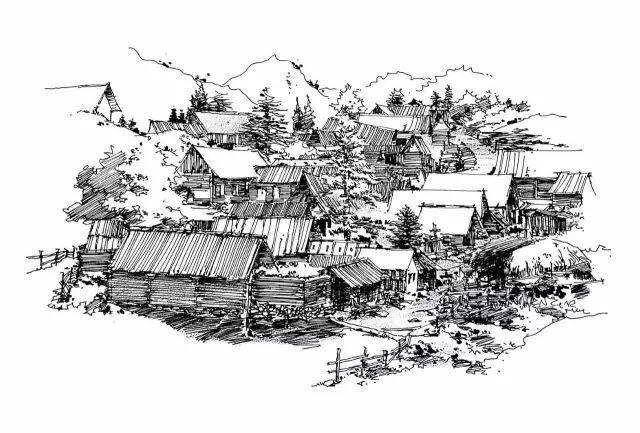 中国环境 手绘素材