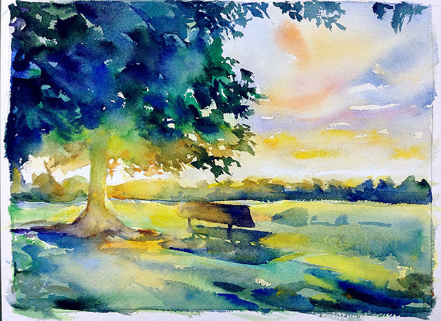 简单风景画_简单风景水彩画步骤