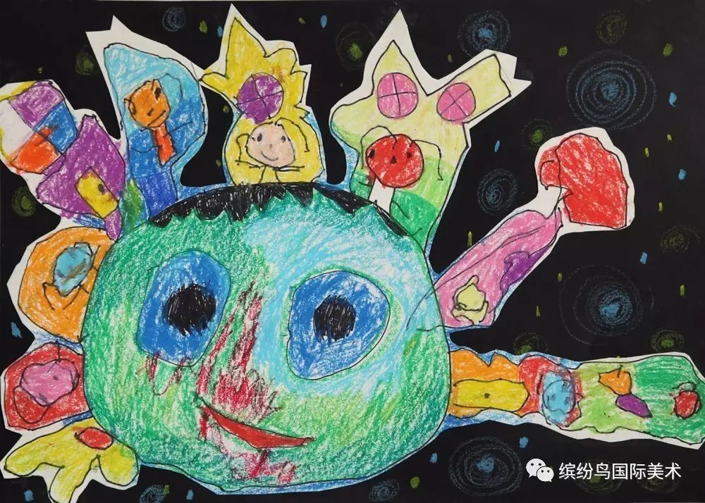 第六届缤纷鸟全国少儿美术大赛绘画类幼儿组特等奖获奖作品欣赏 下