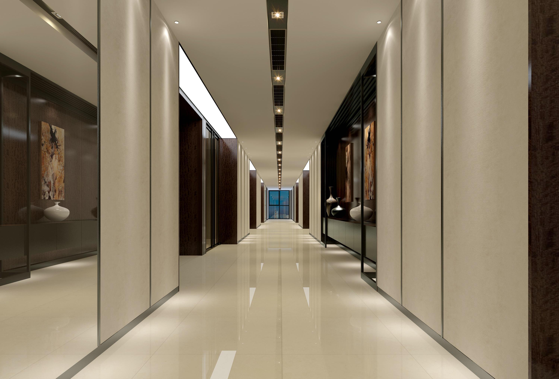 三层楼梯间立面图 场景效果图设计如下: 总经理办公室 整套cad设计图