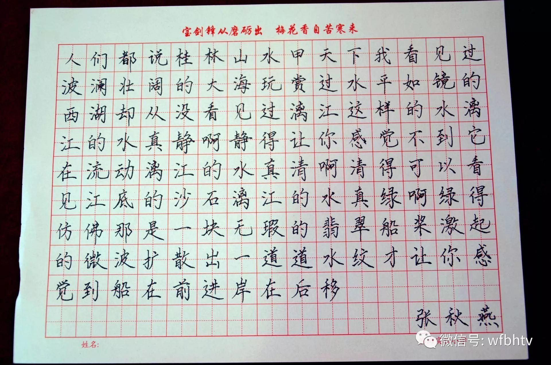 铁钩银画抓铁有痕,滨海实验小学青年教师的钢笔字写得不孬