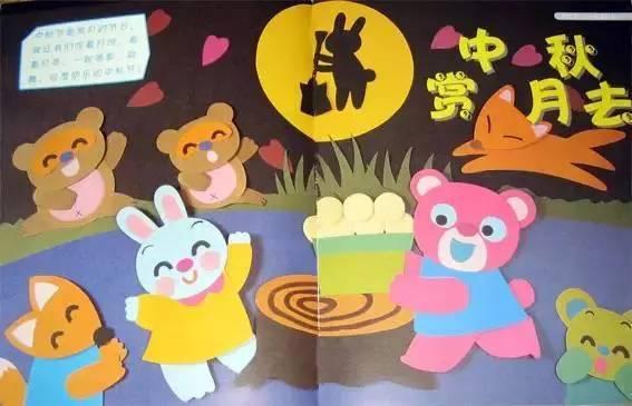 幼儿园中秋节特色环创布置 中秋节是赏月的节日,就让我们吃着月饼