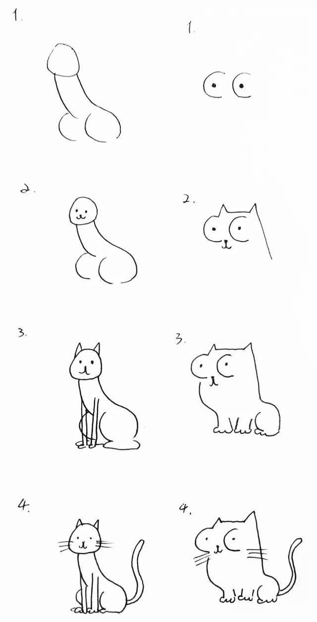 十笔画一只猫,不信来看