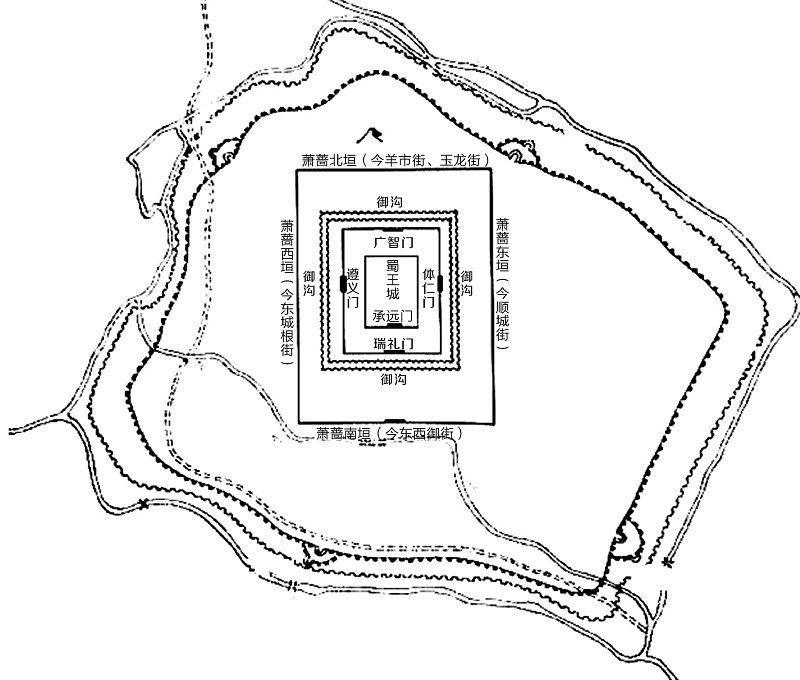 蜀王府平面图
