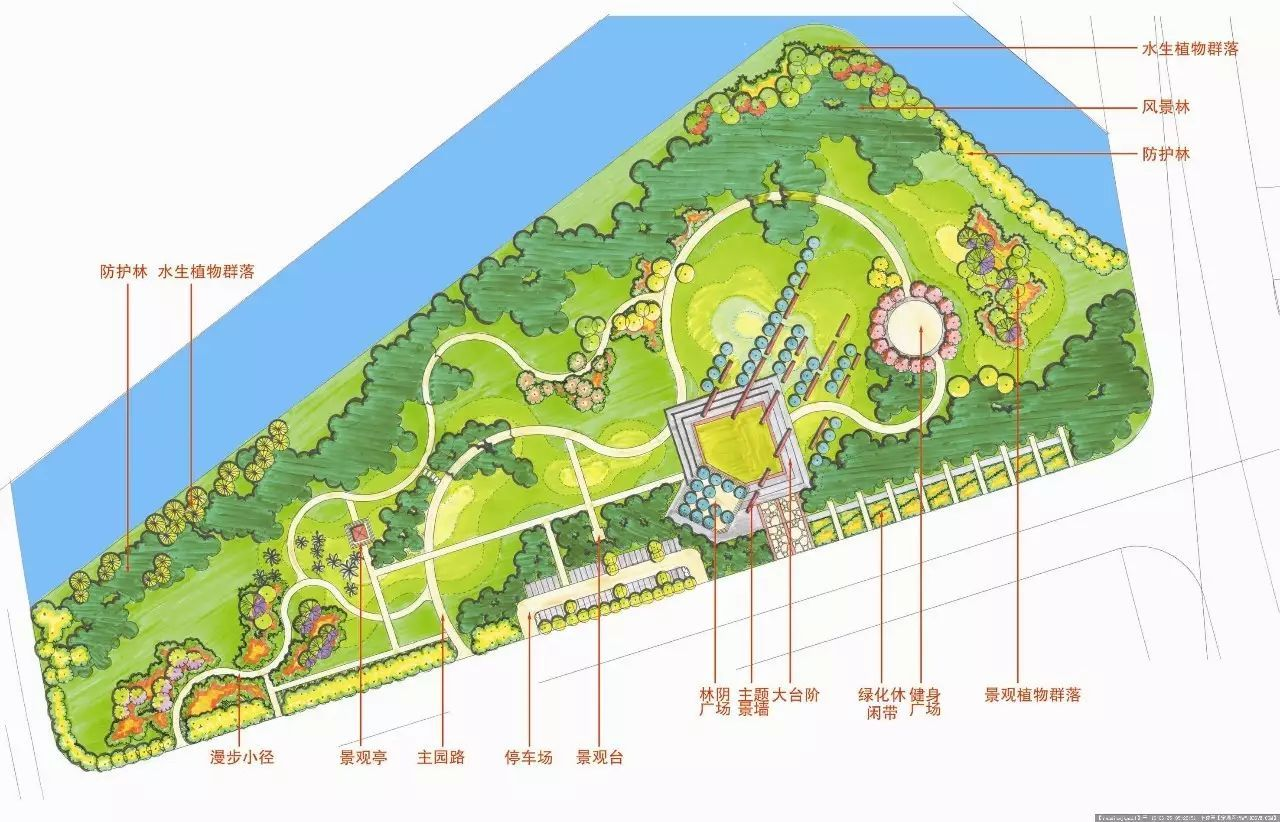 景区规划cad平面图