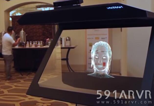 VNTANA和AI技术的结合创造AI全息门房,不需头显与人互动