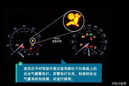 这个指示灯用来显示安全气囊的工作状态,正常情况下在车辆自检完成后,该指示灯就会熄灭。如果此灯亮起要尽快到专业维修服务站进行检查,以免在发生安全事故时,安全气囊不能正常打开,安全起见,最好到4S店检查一下你的安全气囊。 9 电动转向系统警告灯 电动转向系统警告灯