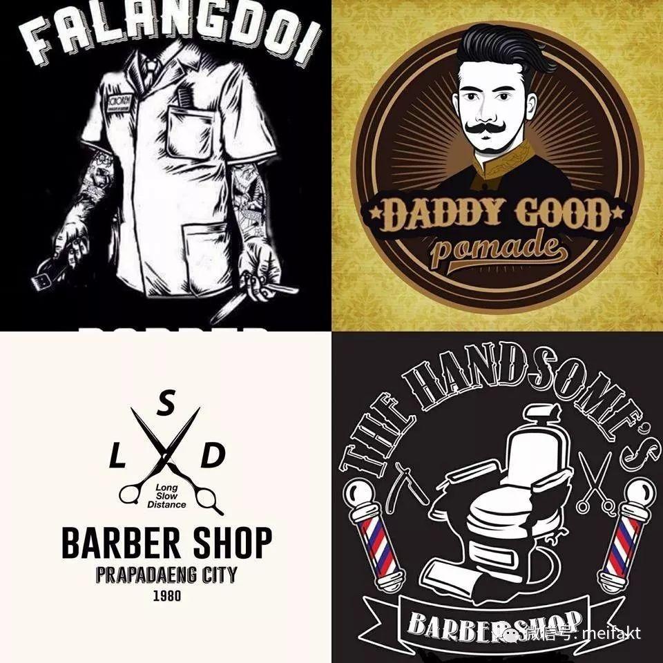 200款很有吸引力的美发店logo ,让人过目不忘图片