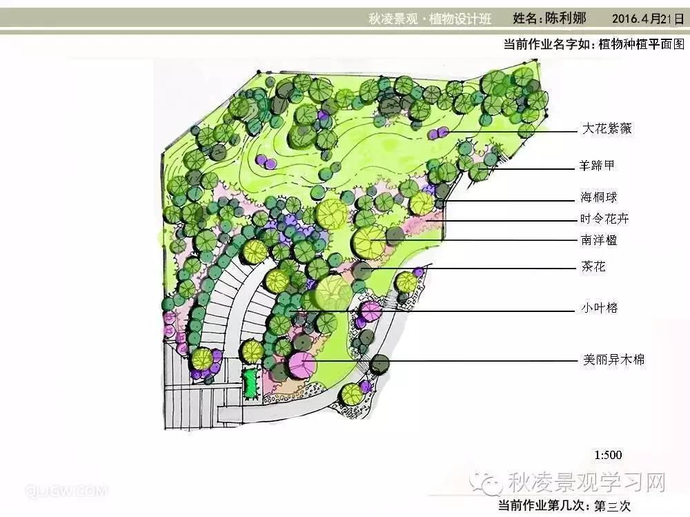 文化 正文  可以看出,在立面图中,植物配置显得过满,缺少虚实关系