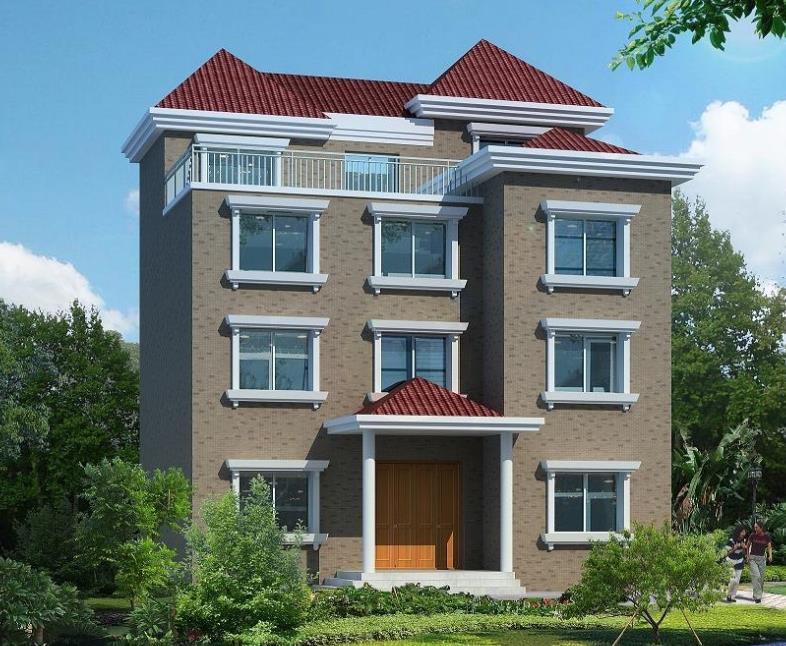 7款四层以上别墅设计图,可自住出租,农村房子也可以