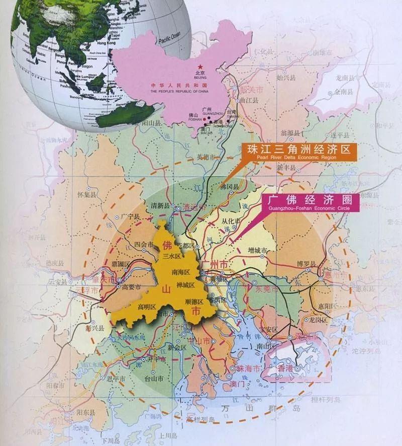 广东佛山在全省经济总量排几位_佛山在广东哪里