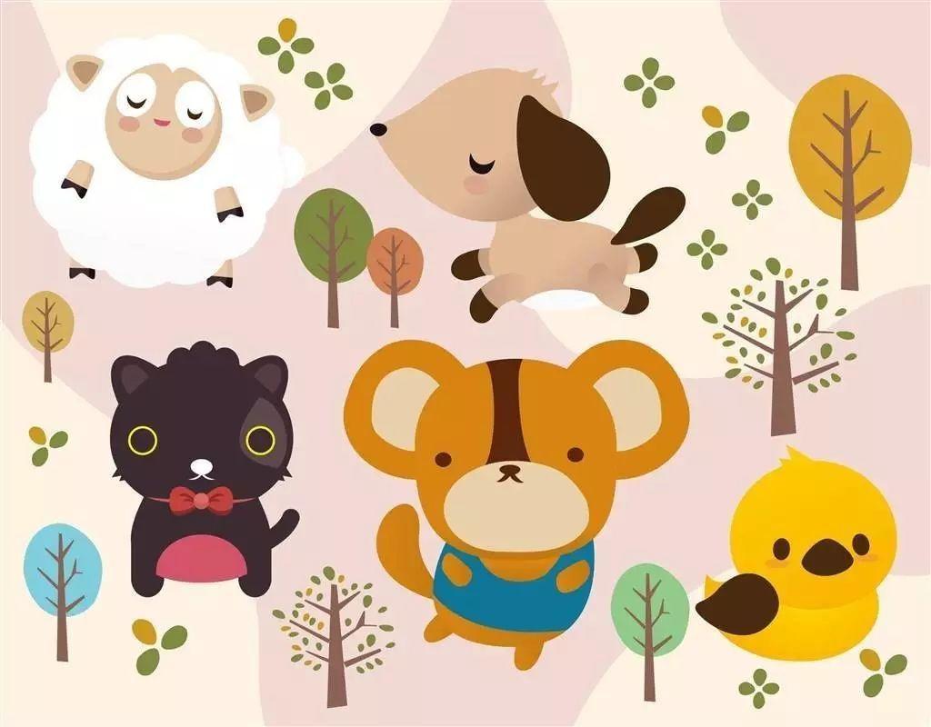 松鼠图片简笔画有颜色