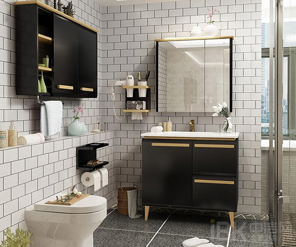 超强收纳、自由组合、量身定制是心海伽蓝这款浴室柜的关键词,是一款将收纳发挥到极致的浴室柜。全高清镜面显示画面,让你体验镜面给你带来的奇妙画面效果。大容量不一样,合理分区,全面释放收纳空间。易洁抗污台面,表面光滑,硬度高,不渗污。 金牌卫浴深海蓝系列实木浴室柜
