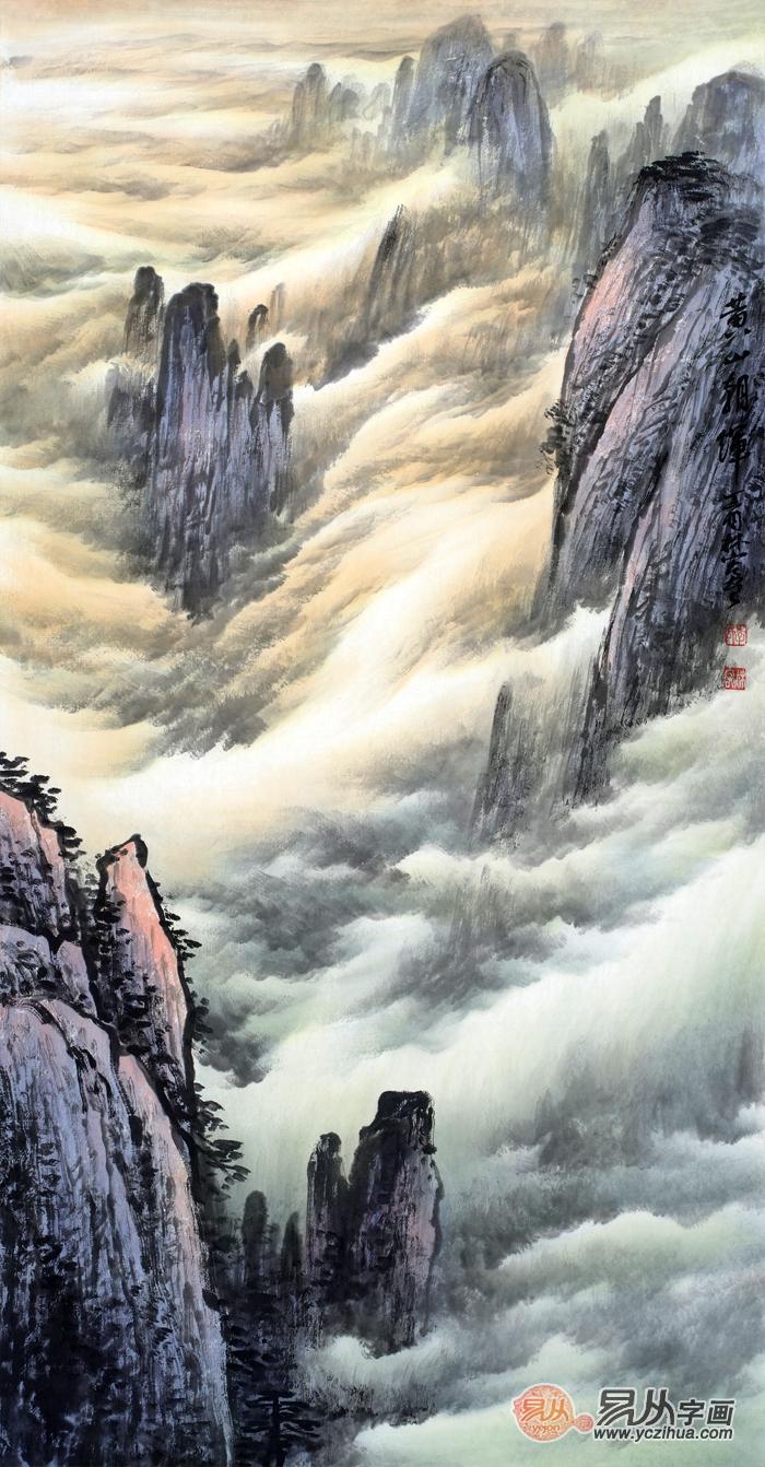 融南北于一体当代著名画家李林宏山水画解读图片