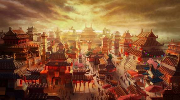唐朝盛世手绘图